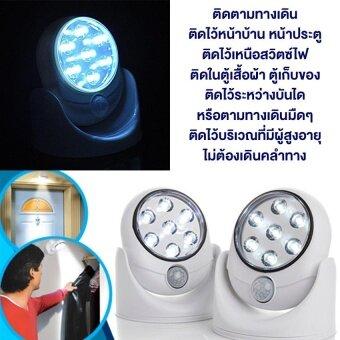 Light Angel LED ไฟเซ็นเซอร์ตรวจจับการเคลื่อนไหว เปิด-ปิด อัตโนมัติ ดับเองภายใน 20 วินาที ติดตั้งง่าย ไร้สาย ใช้พลังงานจากถ่าน AA 4 ก้อน หมุนได้ 360 องศา 1 ชิ้น