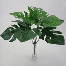 Lightingartificial ปลอมสีเขียว Monstera ปาล์มต้นไม้ใบพืชจำลองตกแต่งบ้าน-นานาชาติ.