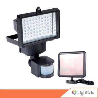 LightTrio SOLAR ไฟสปอร์ตไลท์กันขโมย โซล่าเซลล์ รุ่น 60 LED แสงขาว รุ่น FL-KIT-