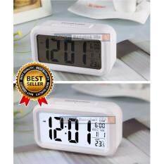 ราคา Lilry Shop นาฬิกาปลุกตั้งโต๊ะ นาฬิกาปลุกเรื่องแสง นาฬิกาปลุก สีขาว เป็นต้นฉบับ