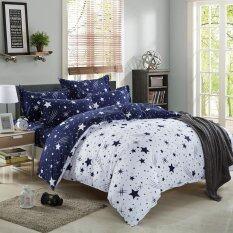 ส่วนลด สินค้า Lily ผ้าปูที่นอน 6 ฟุต 5 ชิ้น ผ้านวม เกรด A รุ่น Pp005 สีน้ำเงิน