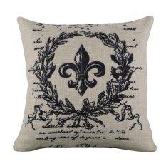 ขาย Linen Square Throw Flax Pillow Case Decorative Cushion Pillow Cover Intl ออนไลน์
