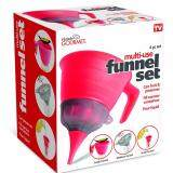 ราคา London อุปกรณ์ชุดกรวยสำหรับกรอกน้ำและเครื่องปรุงใส่ภาชนะต่างๆได้ทุกขนาดคอขวด Funnel Set Red ราคาถูกที่สุด