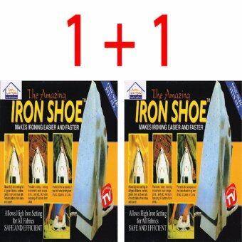 LONDON อุปกรณ์สวมเตารีดให้การรีดผ้าลื่นไม่มีสะดุดรีดได้เรียบและเร็วกว่าปกติ2เท่า IRON SHOE 1+1 (2ชิ้น)