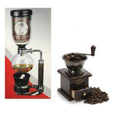 ขาย Lookgoods เครื่องชงกาแฟแบบญี่ปุ่น Syphon 3 5 Cup และที่บดกาแฟมือหมุน ถูก ใน กรุงเทพมหานคร