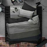 ราคา Lotus Stripies ชุดผ้าปูที่นอน 3 5 ฟุต 3 ชิ้น ลาย Li Sd 12B โทนสีดำ ใหม่ ถูก