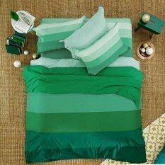 ส่วนลด Lotus Stripies ชุดผ้าปูที่นอน 3 5 ฟุต 3 ชิ้น ลาย Li Sd 13B โทนสีเขียว