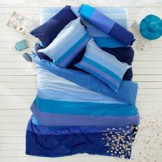 โปรโมชั่น Lotus Stripies ชุดผ้าปูที่นอน 5 ฟุต 5 ชิ้น ลาย Li Sd 15B โทนสีน้ำงินเข้ม Lotus ใหม่ล่าสุด