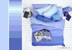 Lotus Stripies ชุดผ้าปู 6ฟุต 5ชิ้น ผ้านวม90X100 ลาย Li Sd 07 B โทนสีฟ้าคราม แถมฟรี หมอน 2 ใบ ใน สมุทรปราการ