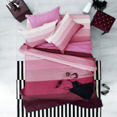 ขาย Lotus Stripies ชุดผ้าปูที่นอน 6 ฟุต 5 ชิ้น ลาย Li Sd 06B โทนสีแดงชมพู ถูก ไทย