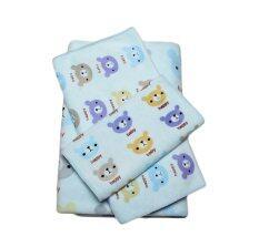 Louis Cj เซ็ตผ้าขนหนูไมโครไฟเบอร์ ลาย Lovely Bear 3 ผืน - สีฟ้า พิเศษสุดๆ