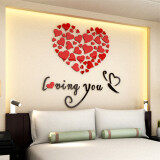 ขาย Lovely Mirror Hearts Home 3D Acrylic Wall Stickers Decor Diy Decal Removable Set Red Intl