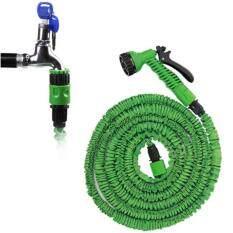 ซื้อ Loveyou Elastic Hose สายยางยืดหด In หัวฉีดน้ำ 15เมตร 50Ft จะขยายและยืดยาว สีเขียว ออนไลน์