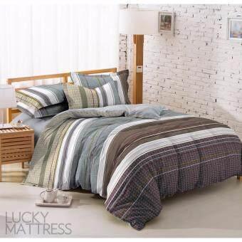 LUCKY ผ้าปูที่นอน 5 ชิ้น รุ่น CLASSIC PRINT ลาย Striped