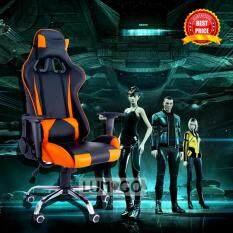 โปรโมชั่น Lumigo เก้าอี้เล่นเกมส์ เก้าอี้เกมส์มิ่ง เก้าอี้ปรับระดับได้ เก้าอี้ทำงาน Racing Gaming Chair รุ่น Gmc 012 Race Or สีส้ม Lumigo