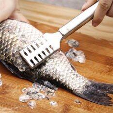 ราคา Luowan Hefty Non Toxic Stainless Steel Sawtooth Fish Scales Skin Remover For Fast And Easy Fish Scale Removing Ergonomic Design For Firm Grip Sleek Silver Intl Luowan เป็นต้นฉบับ