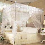 ความคิดเห็น Luxury Princess Four Corner Post Bed Curtain Canopy Netting Mosquito Net Bedding White 1 2X2M Intl