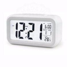 ขาย ซื้อ ออนไลน์ Madeinsure นาฬิกาปลุกตั้งโต๊ะ นาฬิกาปลุกเรื่องแสง นาฬิกาปลุก สีขาว