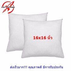 ขาย Maewthai ไส้หมอนอิงขนาด 16X16 นิ้ว สีขาว 2 ใบ ทำจากใยสังเคราะห์ นุ่ม ยืดหยุ่นสูง เนื้อแน่น ลดปริมาณไรฝุ่น กรุงเทพมหานคร ถูก