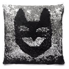 Magic Pillows หมอนวิ้งเปลี่ยนสี ดำ-เงิน 2 สี ใน 1 ใบ
