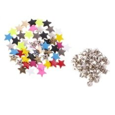 ซื้อ Magideal 50 Sets Metal Star Pentagram Stud Rivet Spike Punk Scr*w For Leathercraft Intl Magideal ออนไลน์
