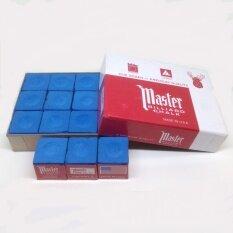 ขาย ชอล์คฝนหัวคิวมาสเตอร์ Master Billiard Pool Cue Chalk Box 12 Cubes Master เป็นต้นฉบับ