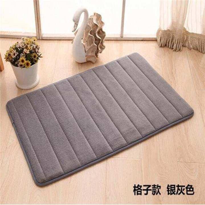 แนะนำ Memory Foam Bath Mats Bathroom Horizontal Stripes Rug No Slip Mat 01