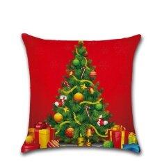 ราคา Merry Christmas Pillow Cases Linen Sofa Cushion Cover Home Decor Intl ใหม่ ถูก