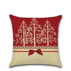 ความคิดเห็น ร่าเริงคริสต์มาสกรณีหมอนโซฟาผ้าลินินเบาะรองนั่งตกแต่งบ้าน
