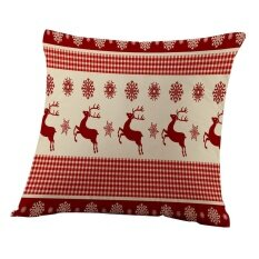 ราคา Merry Christmas Pillow Cases Sofa Letter Cushion Cover Home Decoration Intl ใน จีน
