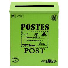 ราคา Metal Tin Locking Waterproof Post Card Mailbox Vintage Wall Hanging Mail Box New Green Intl เป็นต้นฉบับ Unbranded Generic