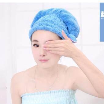 หมวกคลุมผมนาโน Microfiber สามารถคลุมหมักผม+ใช้คลุมอาบน้ำ (คละสี)