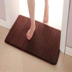 ความคิดเห็น Microfibre Memory Foam Mat Bath Non Slip Mats Color Coffee Size 50Cm By 80Cm Intl