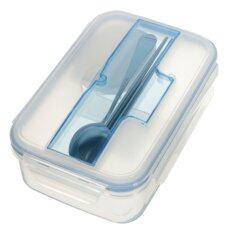 ความคิดเห็น Microwave Lunch Box Case With Soup Bowl Chopsticks Spoon Food Containers Office