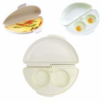 ไมโครเวฟแม่พิมพ์ไข่เจียว Poach เตาทำอาหาร PAN Maker แม่พิมพ์ทอดไข่ครัวเครื่องมือ - INTL-
