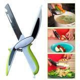 ขาย มีด เขียง กรรไกร พร้อมเปิดขวด Clever Cutter แบบ 6 In 1 ใบมีดสเตนเลส หั่นและตัด อเนกประสงค์ กรรไกรหั่น ได้เร็วกว่าปกติถึง 10 เท่า Smart Cutter 6 In 1 Knife Cutting Board Lkmylove เป็นต้นฉบับ