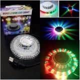 ขาย ซื้อ Mini Disco Light ไฟดิสโก้พกพา แบน บาง ใช้งานสะดวก ไฟหลากสี ระบบ Voice Activate ทรง Ufo ใน ไทย