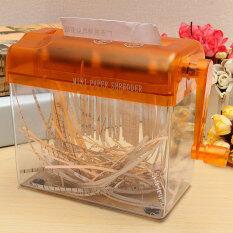 Mini Hand Shredder Portable Mechanic Paper Quilling Fringer Tools Straight Cut Orange Intl ใน Thailand