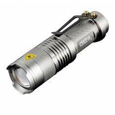 ทบทวน ที่สุด Mini Led Torch ไฟฉายจิ๋วแรงสูง สว่างจับใจ Cree 14500 รุ่น Sk68 สามารถใช้ถ่าน Aa สี Silver