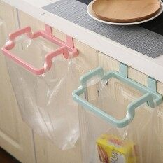 Mini Portable Plastic Cupboard Door Garbage Trash Rubbish Bag Box Can Rack Hanging Holder Kitchen Tool Towel Racks - Intl.