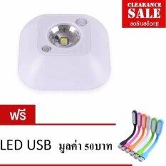 ทบทวน Mini Wireless Night Light ไฟเซ็นเซอร์จับการเคลื่อนไหว เปิด ปิดอัตโนมัติ เฉพาะกลางคืนหรือที่มืดเท่านั้น สินค้าขายดี