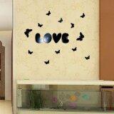 ทบทวน Mirror Wall Love Butterfly Removable Decal Vinyl Art Wall Sticker Home Decor Bk Intl