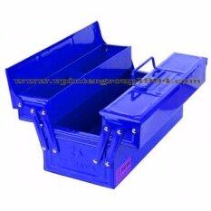 Mitsana กล่องใส่อุปกรณ์ช่าง กล่องเหล็ก กล่องเครื่องมือ 14 นิ้ว 2 ชั้น สีน้ำเงิน ถูก