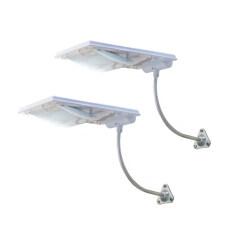 ราคา Mj TechโคมไฟLedโซล่าร์เซลล์ 2 Set แผ่นรับแสงขนาด 3 5W Led 4 8 W แบตลิเทียม 4000Mh เป็นต้นฉบับ Unbranded Generic