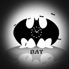 ซื้อ Modern Creative Batman Decorations Bedroom Home Time Retro Wall Clock Quartz Intl Unbranded Generic