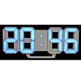 Modern Digital Led Wall Clock Table Desk Night Electric Clock Alarm Watch Multi Functional Led Clock 24 Or 12 Hour Display Color Blue Intl ถูก