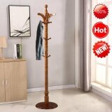 ขาย Modern High End Solid Wood Round Base 16 Hooks Coat Hanger Hat Rack Intl ใน จีน