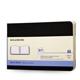 Moleskine สมุดสเก็ตซ์ภาพคาฮ์เย ขนาดพ็อคเก็ต รุ่น ARTSKA2 (สีดำ)