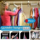 ขาย ซื้อ Momma ราวแขวน จัดระเบียบ เพิ่มพื้นที่ 5 เท่า ไม้แขวน เสื้อผ้า เสื้อเชิ้ต กระโปรง กางเกง ผ้าพันคอ เข็มขัด กระเป๋า Magic Wonder Hanger Closet Clothes Organizer Space Saver 5X