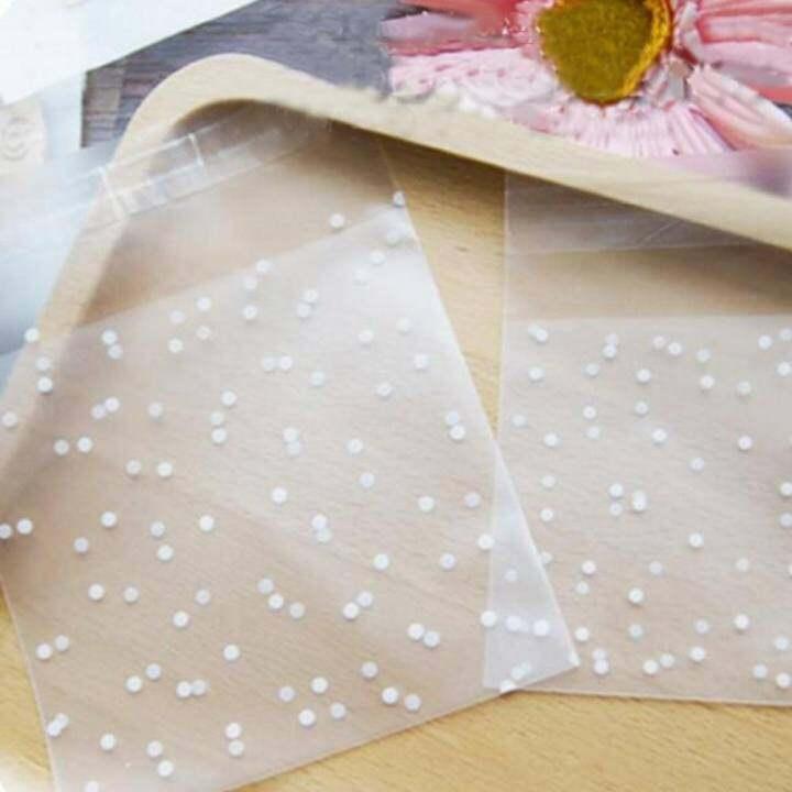 แนะนำ Moonar 100PC 5.5*5.5cm White Dots Transparent Christmas Birthday Party Wedding Cookie Gift